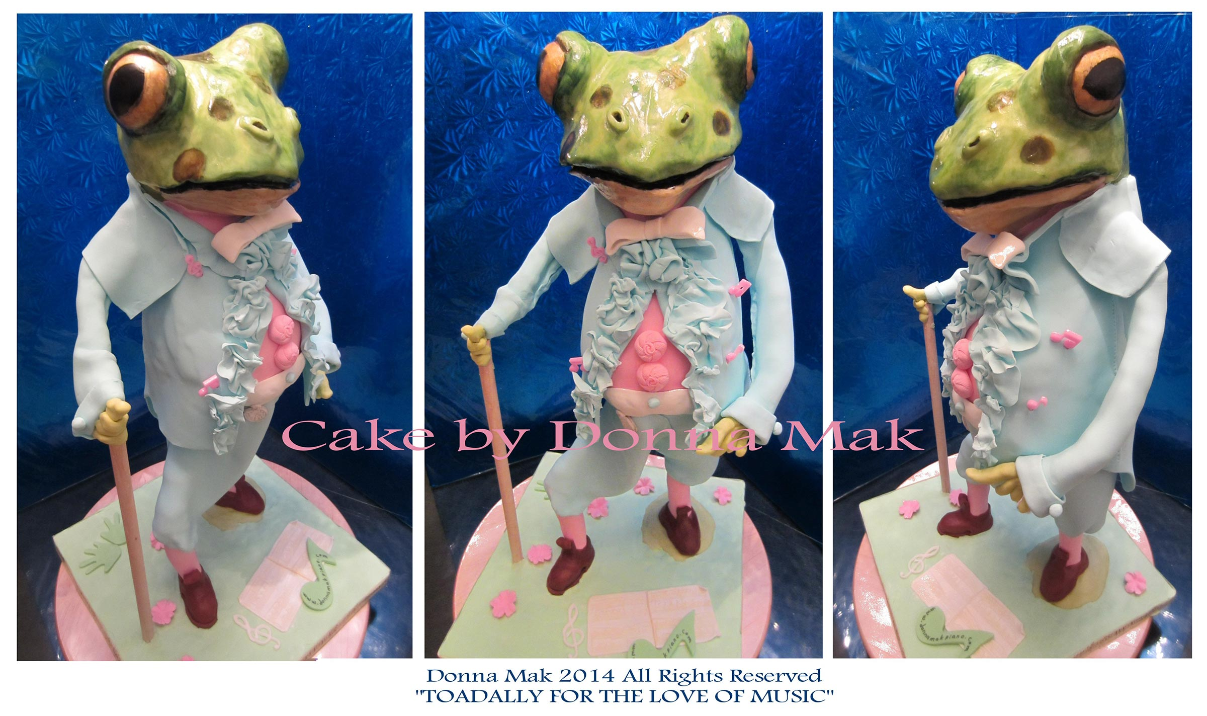 Toadally For Love of Music Cake by Donna Mak